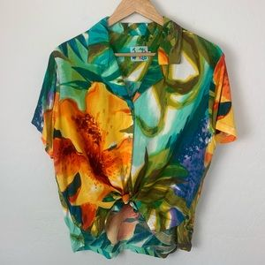 Jams World authentic Hawaiian tropical shirt large